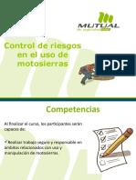 Control de riesgos en trabajos con motosierra