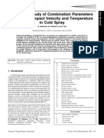 Katanoda, Fukuhara, Iino - 2007 - Numerical Study of Combination Parameters for Particle Impact Velocity and Temperature in Cold Spray