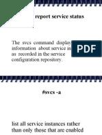 SOLARIS svcs command ppt