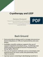 Cryotherapy and LEEP