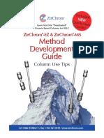ZirChrom -EZ & ZirChrom -MS Method Development Guide