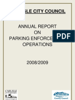 Carlisle Annual Report Parking 08-09