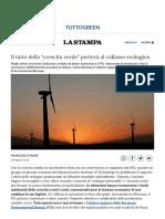"""Il Mito Della """"Crescita Verde"""" Porterà Al Collasso Ecologico - La Stampa"""
