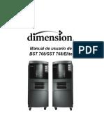 Manual de operación impresora dimension BST 768