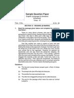 9 English Sample Papers 2018 2019 Set 3