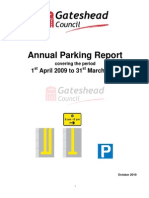 Gateshead Annual Parking Report 2009-10