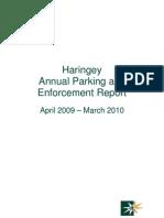 LB Haringay Parking Annual Report