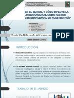 Derecho Laboral . El Trabajo y La Coyuntura Internacional 88.966666%