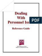 Dealing with personnel issue
