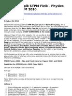 Ramalan Topik STPM Fizik Physics Tips for STPM 2010-2084842