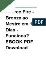 Free Fire - Bronze Ao Mestre Em 15 Dias - Funciona eBook PDF Download