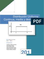 Distribución Uniforme Continua