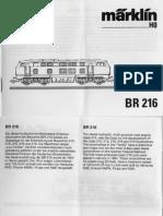 Marklin BR 216 Diesel Locomotive