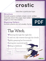 Forms of Poetry Posters
