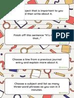 Writers Notebook Task