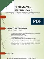 Kalkulus INF Pertemuan 6 - Turunan Part2