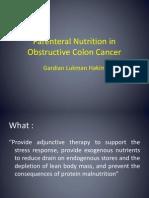 Parenteral Nutrition in Obstructive Colon Cancer