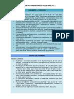 TABLAS DE RECURSOS LINGÜÍSTICOS Francés NIVEL A2