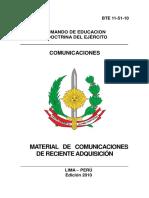 12 Material de Comunicaciones de Reciente Adquisicion 2010