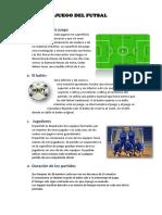 Reglas de Juego Del Futsal