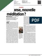 LA TRANSE, nouvelle méditation ?