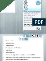 Implementacion de un AG para el RCPSP.ppt