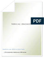 SFDC Admin Basics Study Guide