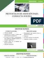 Protocolos de Atención Para Conducta Suicida