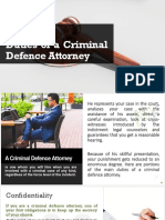Duties of a Criminal Defence Attorney Las Vegas