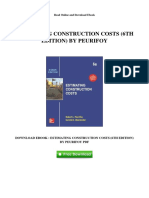 Estimating Construction Costs 6th Edition by p