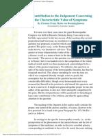 Boenninghausen - Value of Symptoms
