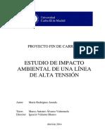 Estudio de Impacto Ambiental de una Línea de Alta Tensión