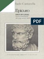 ΠΕΡΙ ΦΥΣΕΩΣ di Epicuro. Nuovi frammenti dal Pap. Ercol. 1420 [Raffaele Cantarella]