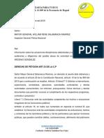 Denuncia Diciplinaria Abuso de Policia ARCENIO GONZALEZ VEEDURIA PARA TODOS