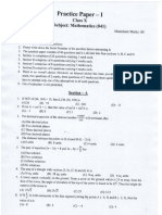 10 Maths Practice Paper 2020 Set 1
