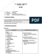SILLABUS DE TEMAS DE COMPUTACIÓN 5to PRIMARIA