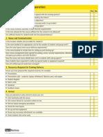 Training Preparation Checklist 1