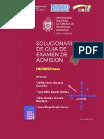 Solucionario Guia de Admisión 2020-1