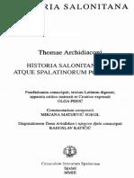 Toma Arhiđakon - Historia Salonitana