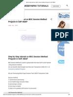 Step by Step Tutorial on BDC Session Method Program in SAP ABAP