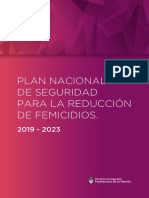 Plan Nacional de Seguridad Para La Reduccion de Femicidios