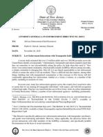 NJ AG police directive re