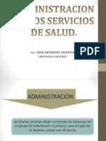 administración en los servicios de salud