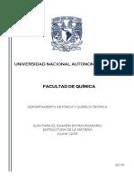 Guía Examen Extraordinario Estructura de La Materia