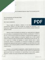 Carta de Farías Al Equipo de Transición