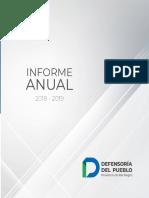 Defensoría Del Pueblo RN | Informe Anual 2018  - 2019