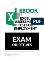 Free.ebook.preview - Microsoft.excel.assessment.test.Exam.objectives.v1.1
