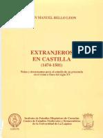 BELLO LEON 1994 Extranjeros en Castilla 1474-1501 1