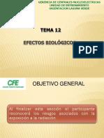 TEMA 12  EFECTOS BIOLÓGICOS junio 2018