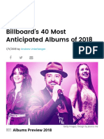 The 40 Most Anticipated Albums of 2018 _ Billboard